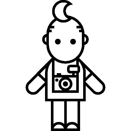 Photographer with Toupee  free icon