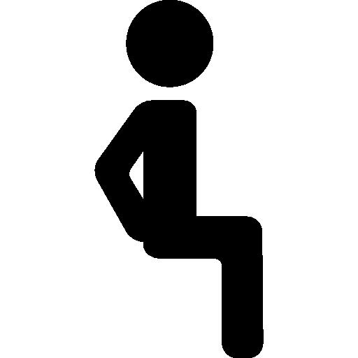 Sitting Man  free icon