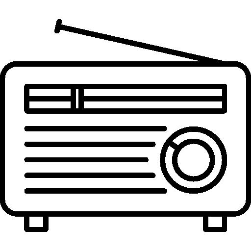 Старое радио с короткой антенной  бесплатно иконка