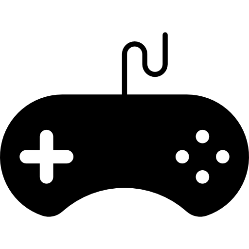 Gamepad with wire  free icon
