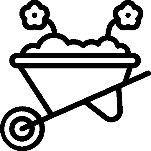 Wheelbarrow  free icon
