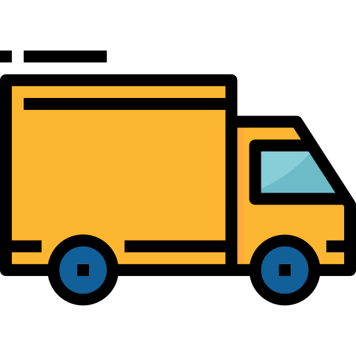 camión  icono gratis