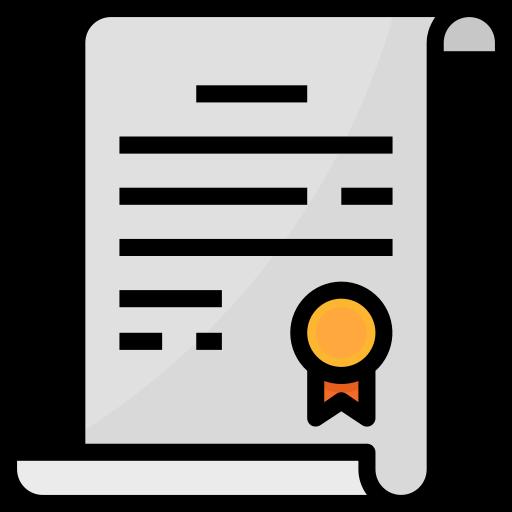 Guarantee certificate  free icon