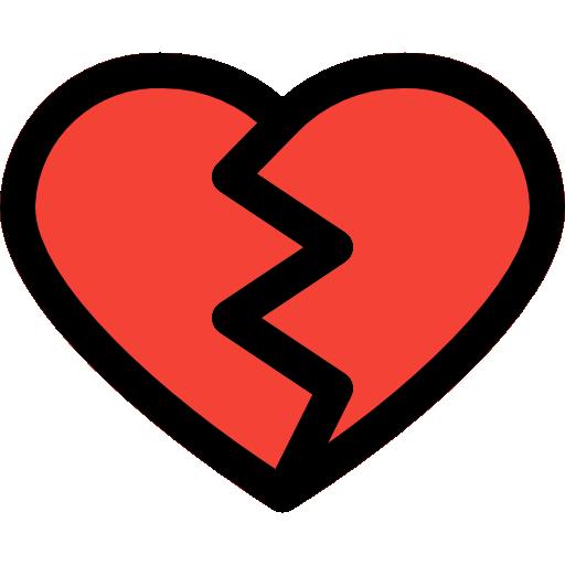 corazón roto  icono gratis