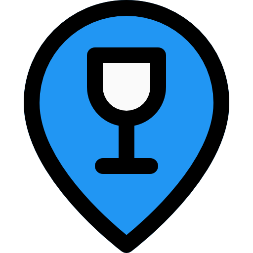 ubicación del bar  icono gratis