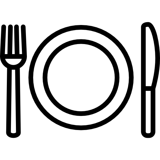 Fork Plate and Knife  free icon