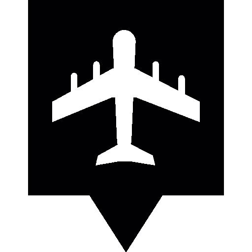 flughafen pin  kostenlos Icon