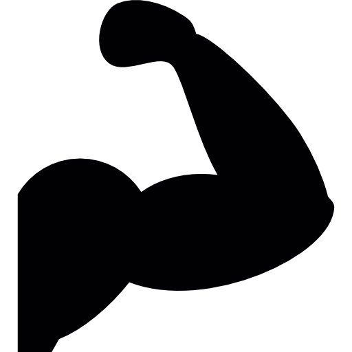 Arm Muscles silhouette  free icon