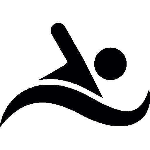 Swimming Silhouette  free icon