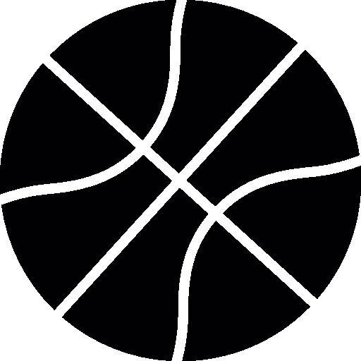 Basketball silhouette  free icon