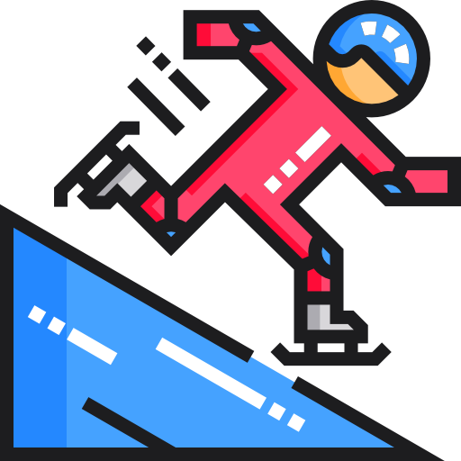 Ice skating  free icon