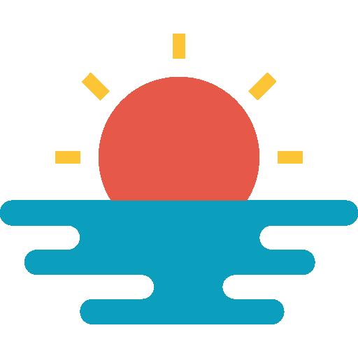 Beach sunset  free icon