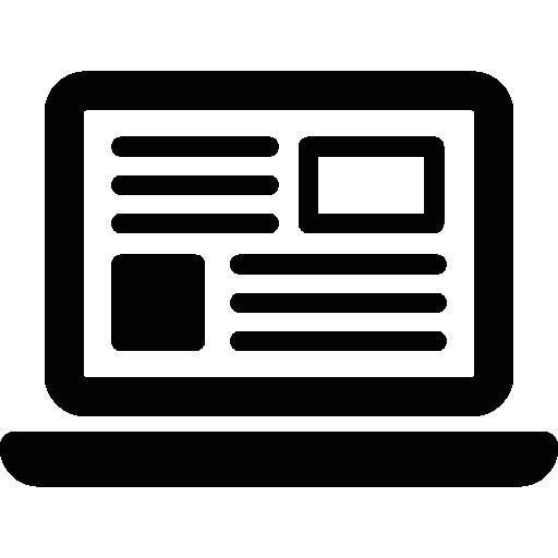 ordinateur portable avec texte  Icône gratuit