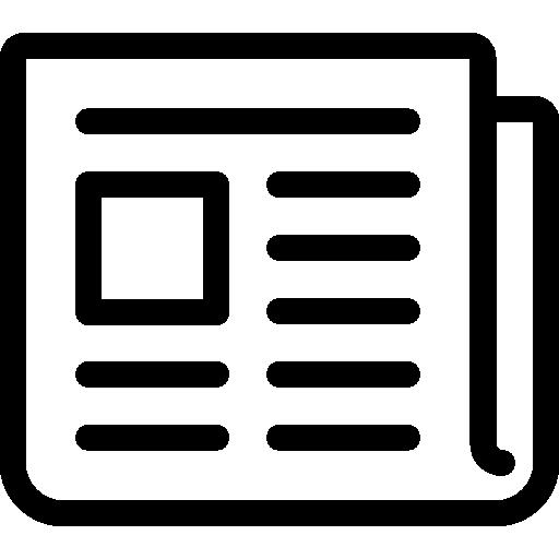 Newspaper Folded  free icon