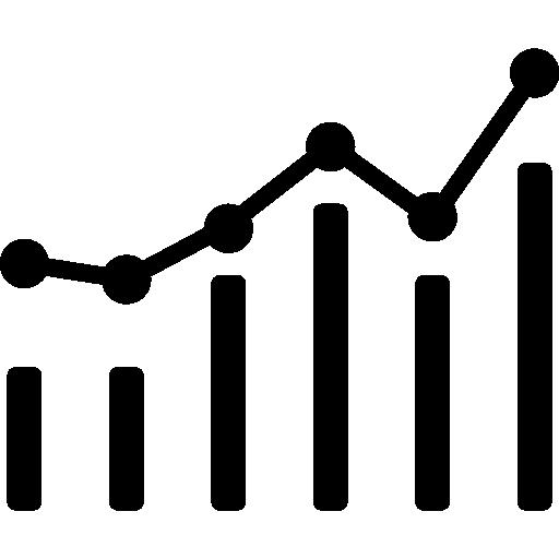 graphique combiné  Icône gratuit