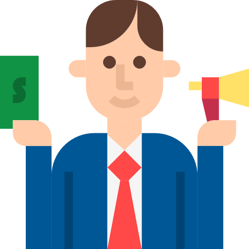 Salesman  free icon