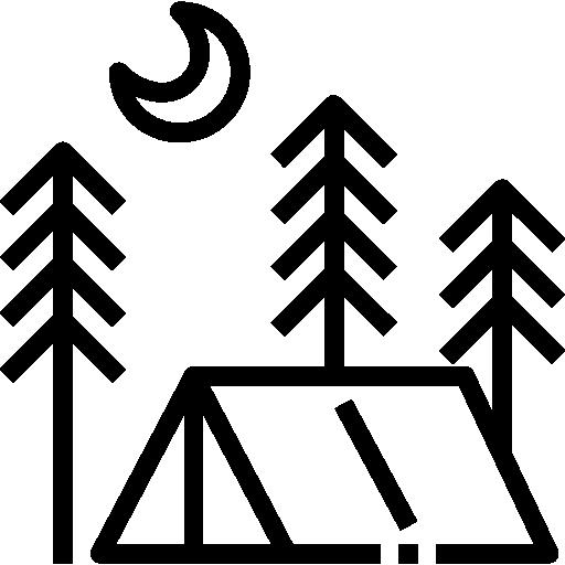 Палатка  бесплатно иконка