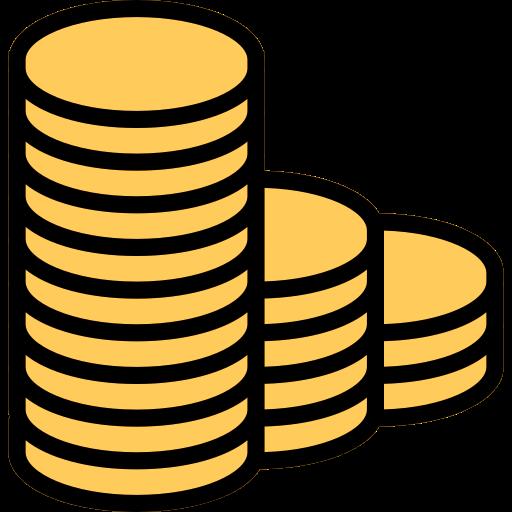 pièces de monnaie  Icône gratuit