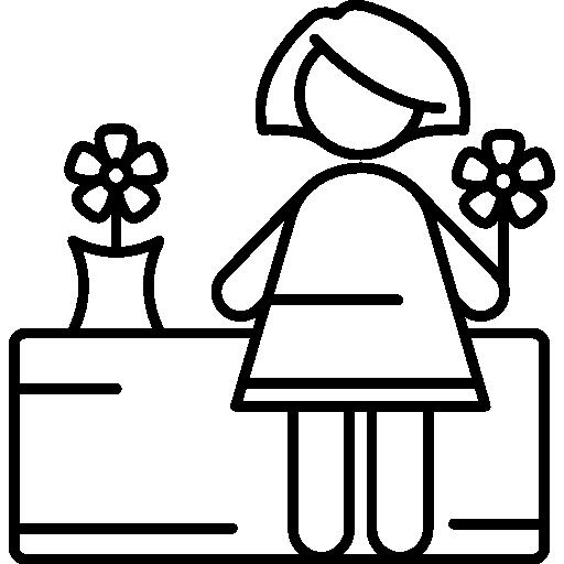 Florist Woman  free icon