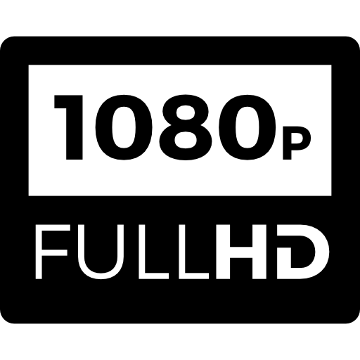 1080p Full HD  free icon