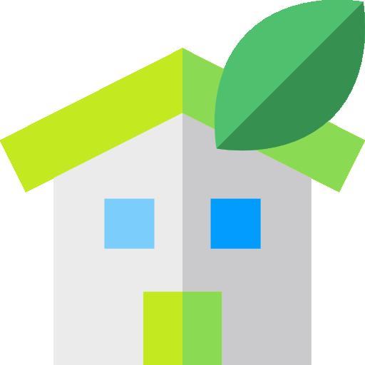 casa ecológica  icono gratis
