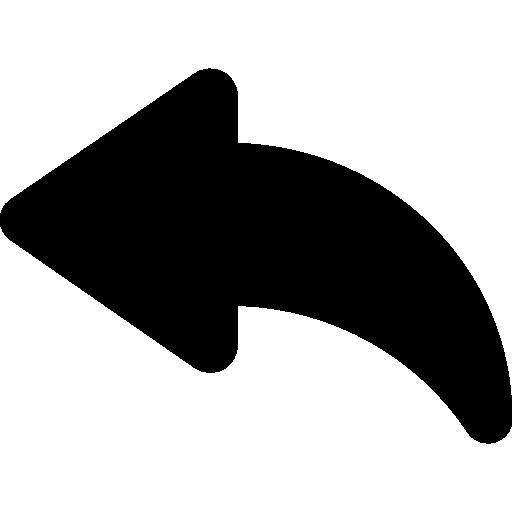 flèche courbe gauche  Icône gratuit