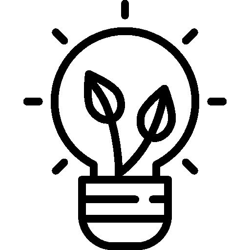 ampoule écologique  Icône gratuit