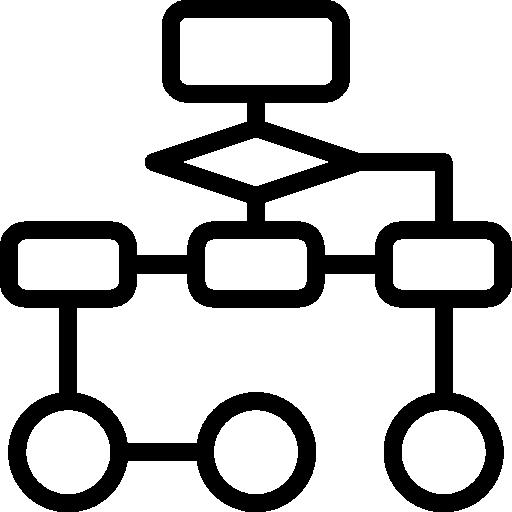 diagrama de flujo  icono gratis