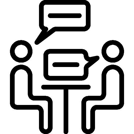 reunión  icono gratis