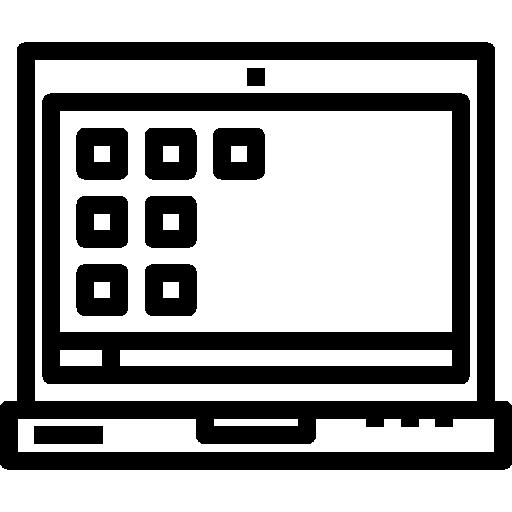 Écran d'ordinateur portable  Icône gratuit
