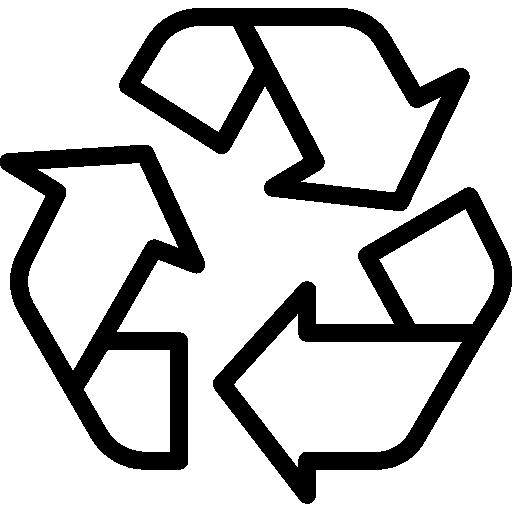 Знак утилизации  бесплатно иконка