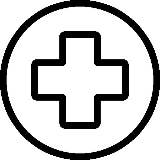 cruz roja  icono gratis