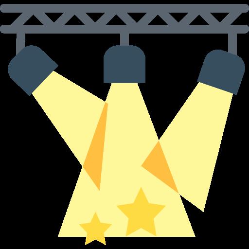 Spotlights  free icon