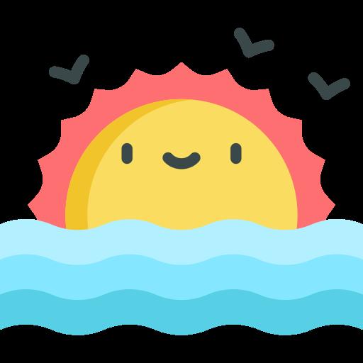 Заход солнца  бесплатно иконка
