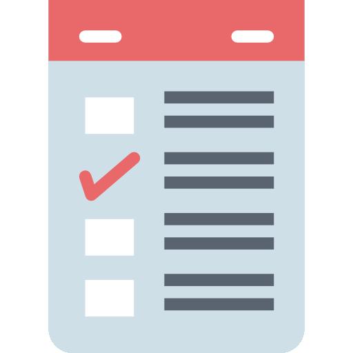 lista de papel  icono gratis