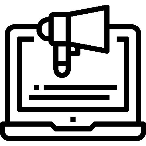 publicidad digital  icono gratis