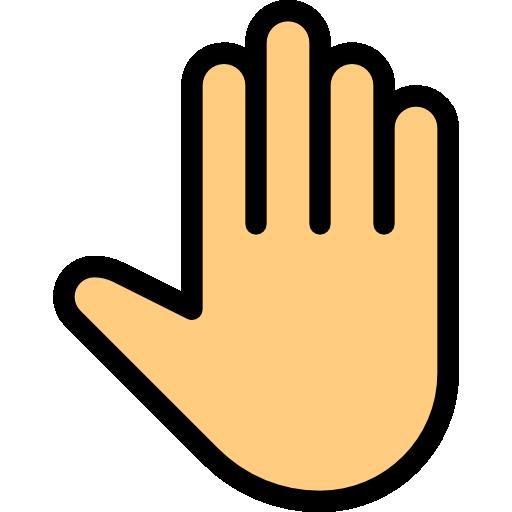 Открытая рука  бесплатно иконка
