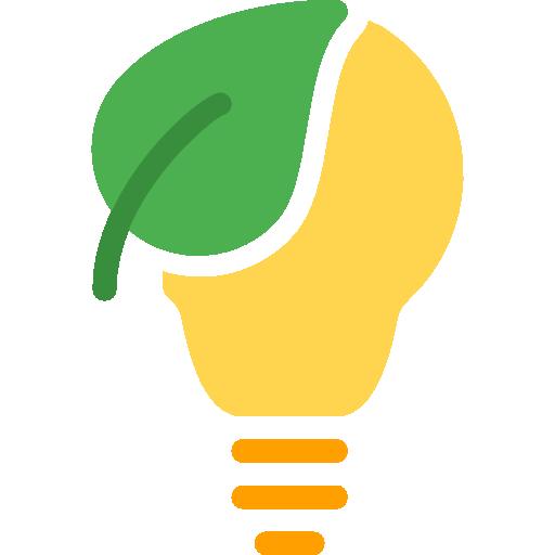 bombilla ecológica  icono gratis