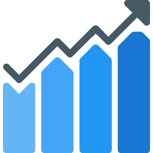 Bar chart  free icon