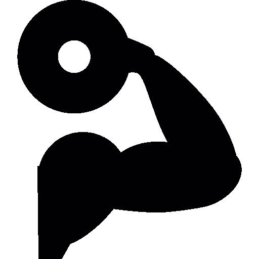 Dumbbell training  free icon