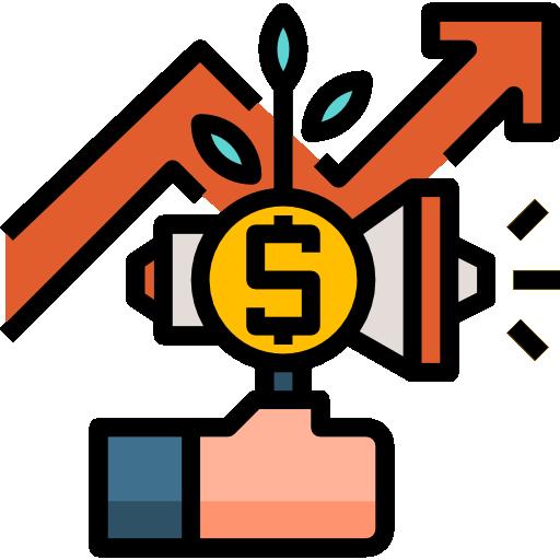 tabla de crecimiento  icono gratis