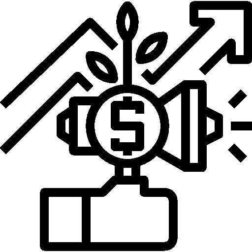 wachstum diagramm  kostenlos Icon
