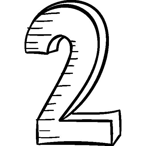 Номер 2  бесплатно иконка