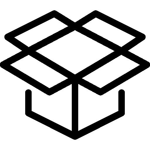 Open Box  free icon