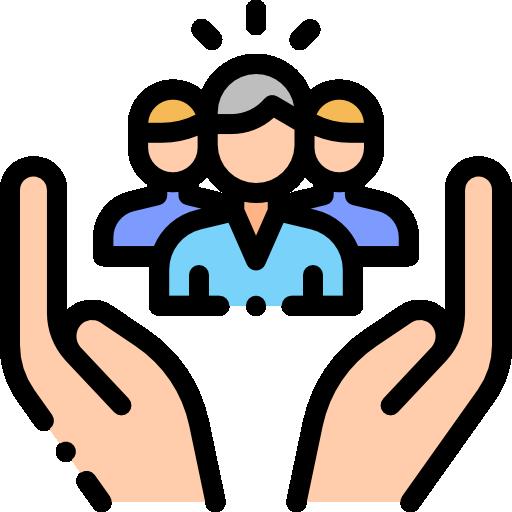 asistencia social  icono gratis