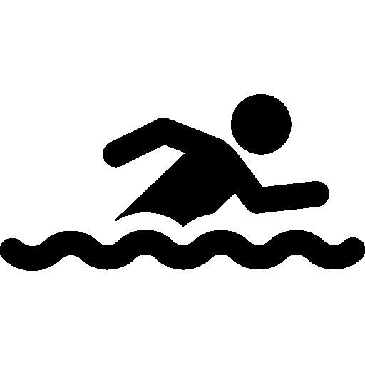 Swimmer  free icon