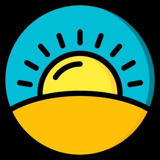 lever du soleil  Icône gratuit