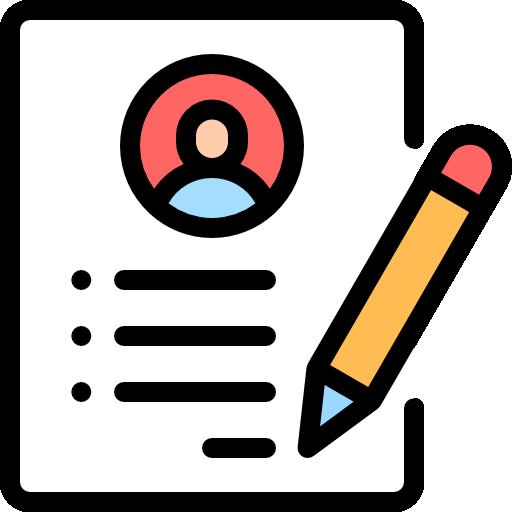 currículum  icono gratis