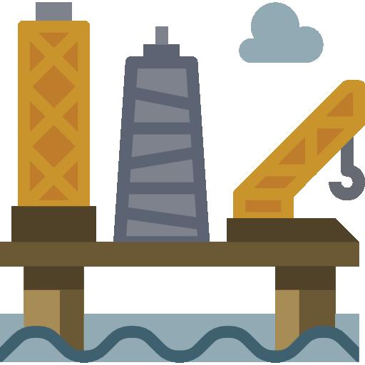 Нефтяная платформа  бесплатно иконка
