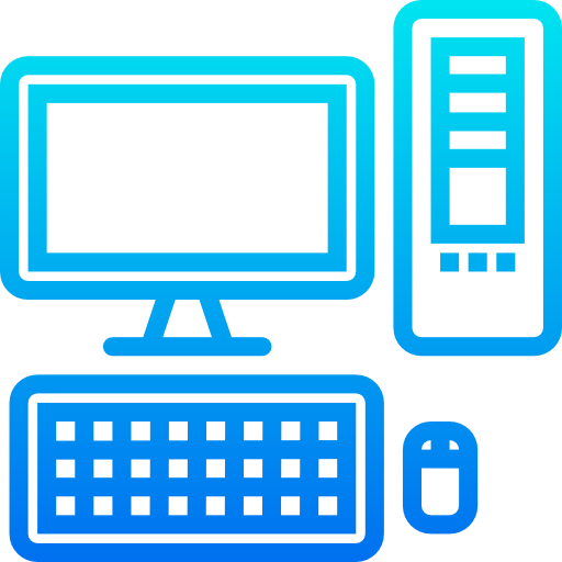 ordinateur de bureau  Icône gratuit